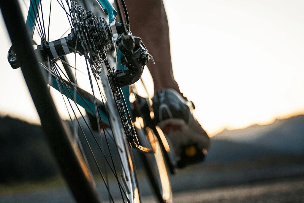 rear view of a bike